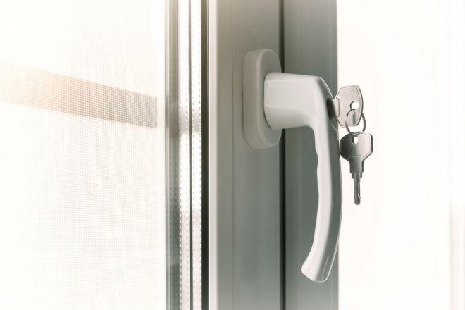 uPVC window lock with keys