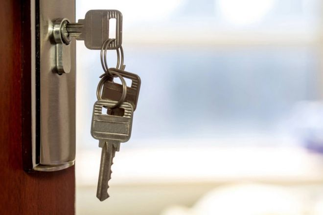 Keys Hanging in Lock
